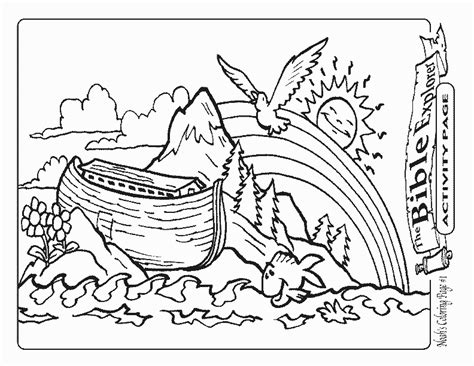 noah ark coloring page az coloring pages