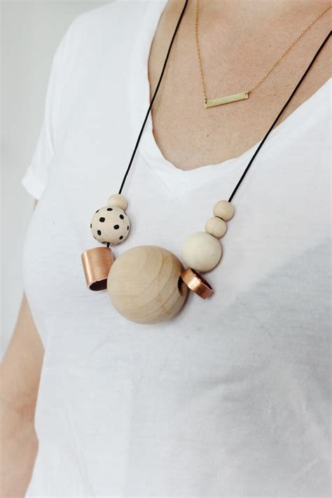 diy wooden diy wood copper necklaces see kate sew