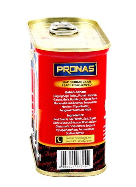 Pronas Corned Beef Chili 198g pronas corned beef klg 340g klikindomaret