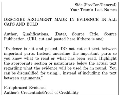 how to prepare evidence for a debate beyond