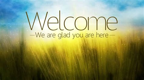 welcomes for church services