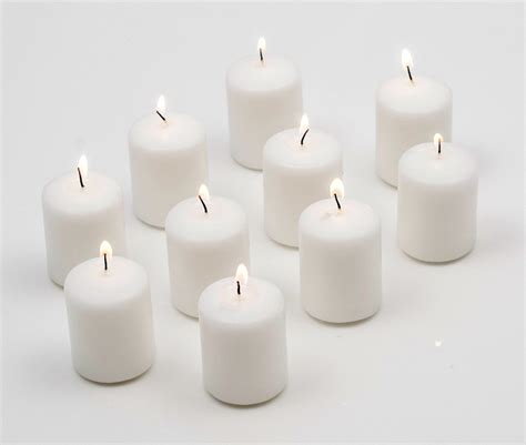 Glass Vases Rectangular 15 Hour Votive Candles Unscented Votive Candles