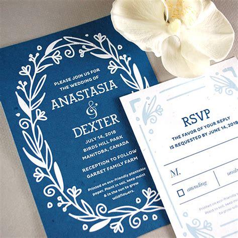 seed paper wedding invitation kits fancy vintage seed paper wedding invitation plantable