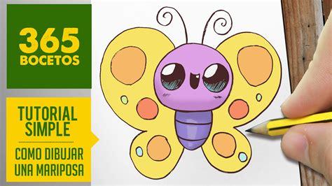 imagenes kawaii bocetos como dibujar una mariposa kawaii paso a paso dibujos