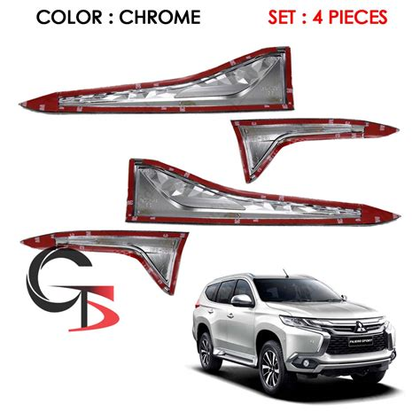 Outer Chrome Pajero Sport 2016 side vent cover trim chrome fits mitsubishi pajero montero sport 2016 2017 ebay