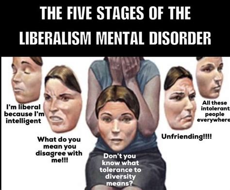 mental memes the five stages of liberalism as a mental disorder meme
