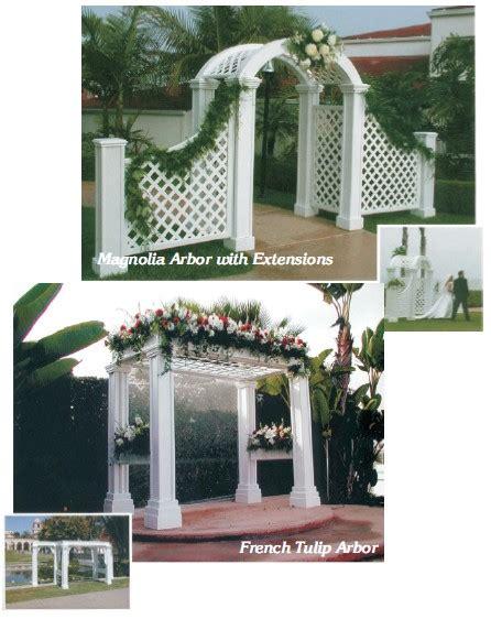 Wedding Arbor Decor by Wedding Decor Wedding Rentals Specials Hotz Catering