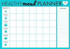 Diabetic Meal Planner Template Free Printable 2016 Meal Planner Calendar Template 2016