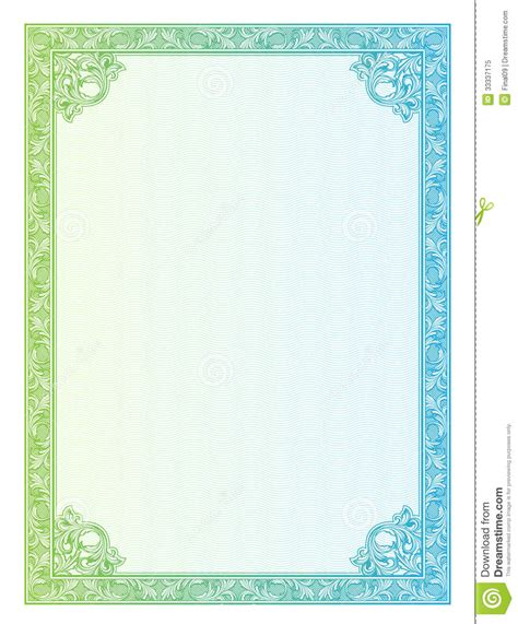 Certificate Vector Pattern Currency And Diplomas Royalty Free Stock Photo Image 33337175 Ornament Template