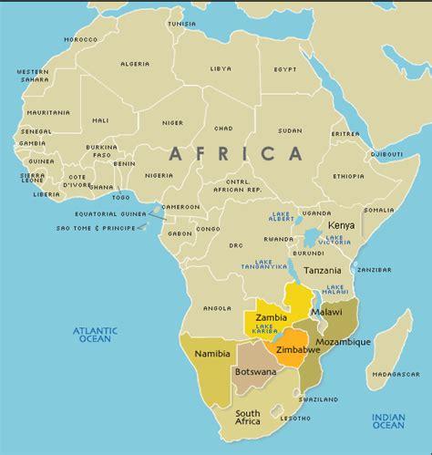 africa map of deserts map of botswana africa