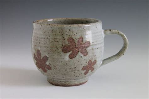 Handmade Mug Designs - flower design ceramic mug cup handmade coffee mug pottery mug