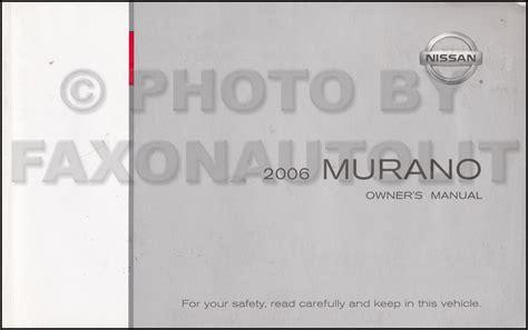 2006 Nissan Murano Owner S Manual Original
