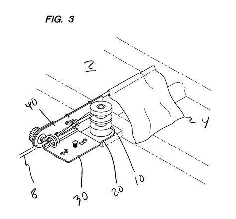 automatic boat flag patent us7013823 automatic warning flag system for a