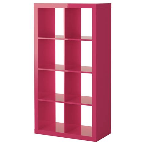 Expedit Shelving Unit High Gloss Pink Ikea High Gloss Expedit Bookcase White