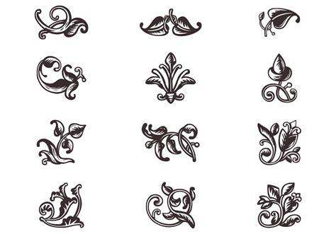 swirly scroll ornaments brushes  photoshop brushes