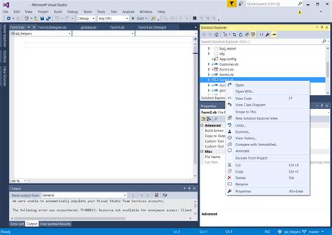 visual studio form design disappeared vb visual studio 2015 ide missing designer view of for