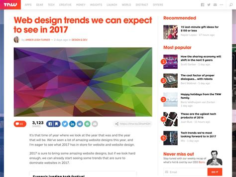10 web design trends you can expect in 2017 usersnap popular design news of the week december 19 2016