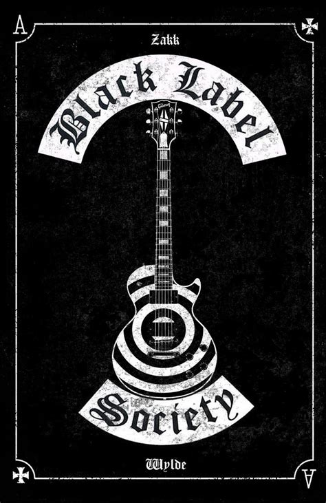 black label society black label society poster les paul by mitchbaker13 on