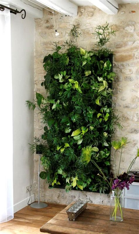 jardin vertical artificial ideas  pinterest jardin vertical pequenos jardines de