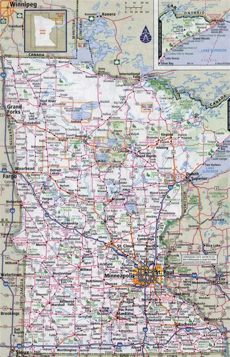 road map of minnesota usa large detailed roads and highways map of minnesota state