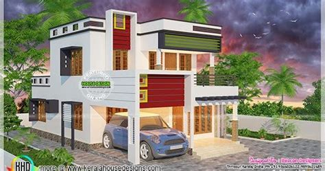 3 bed room flat roof villa with courtyard 2172 sq ft home kerala plans modern flat roof villa kerala home design and floor plans