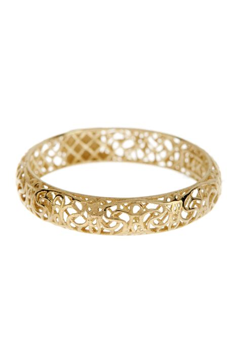 14k yellow gold polished filigree band ring nordstrom rack