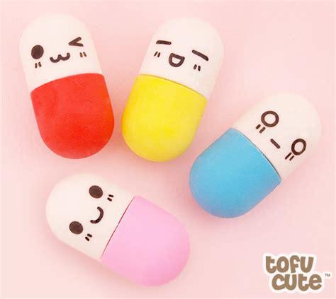 imagenes de gomas kawaii buy set of 4 kawaii mini happy pill erasers at tofu cute