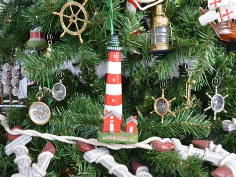 oak island christmas ornament buy assateague lighthouse tree ornament nautical decor