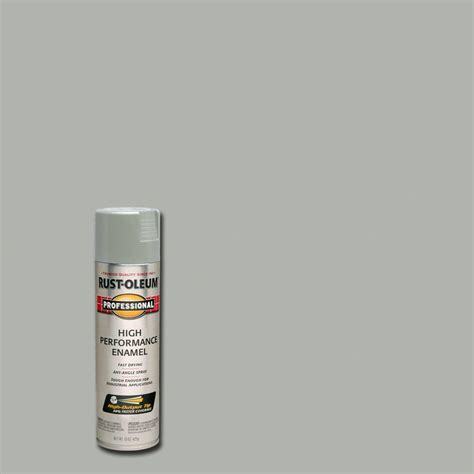 rust oleum professional 15 oz gloss light machine gray protective enamel spray paint 6 pack