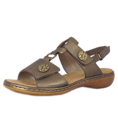 comfortable stylish sandals for women rieker tavira women s comfortable sandals in metallic