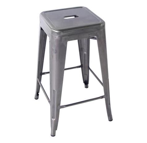 vintage steel industrial modern counter stool kathy kuo home bouchon french industrial steel backless cafe counter