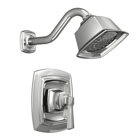 shop moen boardwalk chrome 1 handle shower faucet with