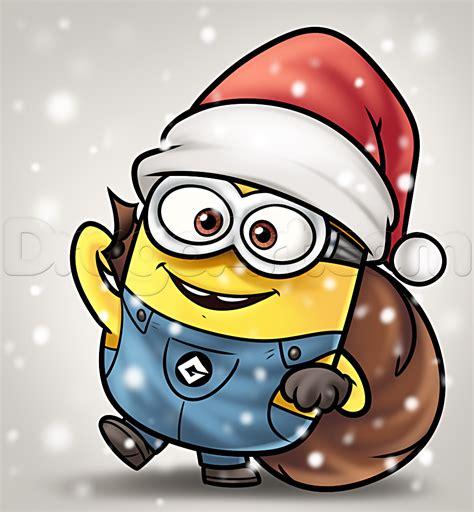 imagenes de minions vestidos de santa claus how to draw a christmas minion step by step christmas