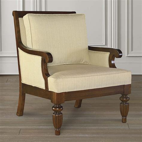 Wooden Accent Chair Leather Fabric Accent Chair With Wood Accents And Legs