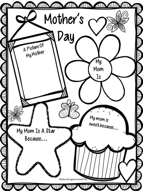 mothers day coloring pages for preschool free mother s day activity happy mother s day students