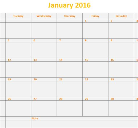 Monthly Calendar Template Excel by Excel Vacation Tracking Calendar Template 2016 Calendar
