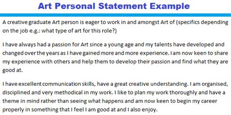 Occupational Therapy Resume Examples by Art Personal Statement Example Forums Learnist Org