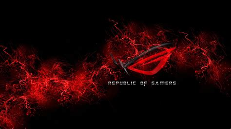 Wallpaper : 1920x1080 px, ASUS, Black And Red, gamers, PC