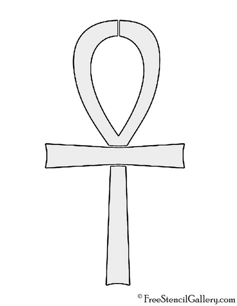 printable egyptian stencils egyptian ankh stencil free stencil gallery