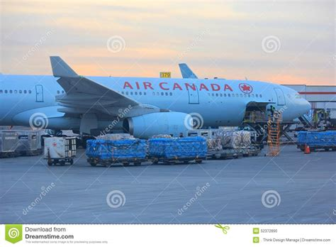 air canada plane at the toronto airport editorial image image 52372890