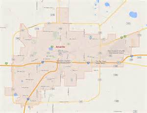where is amarillo on the map amarillo map