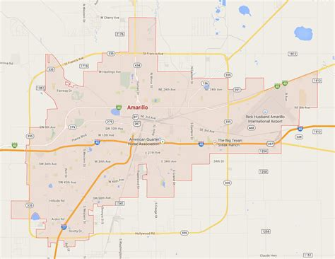 amarillo texas map amarillo images