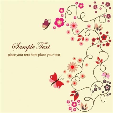 Madu Daun Ungu free vector floral kartu ucapan vektor bunga vektor gratis
