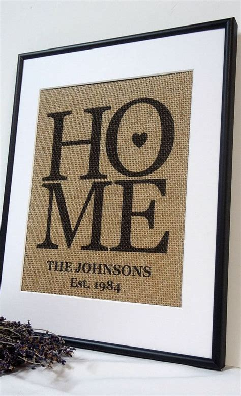 great housewarming gifts personalized burlap love housewarming gift by