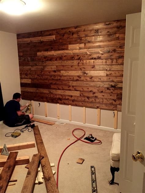 what are walls made of wooden accent wall tutorial country decor pinterest