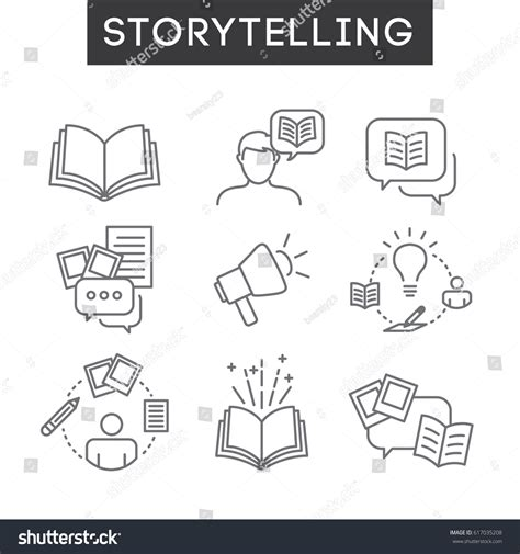 speaking savvy the of speaking and storytelling books storytelling icon set speech bubbles books stock vector