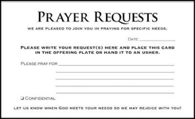 prayer request form template prayer request cards 50 church artwork