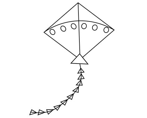 kite coloring pages  print  kindergarten