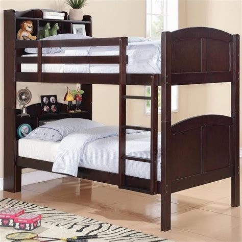 Bunk Bed With Shelves Coaster Bookcase Bunk Bed 460442
