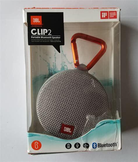 Jbl Clip 2 Waterproof Bluetooh Speaker Grey Abu Abu jbl clip2gry clip 2 waterproof portable bluetooth speaker grey vip outlet